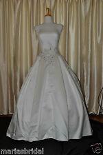 Silky Satin with Cathedral Train Casablanca Bridal Wedding Gown Dress 1797 sz 12