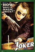 BATMAN THE DARK KNIGHT MOVIE POSTER ~ JOKER MAGIC TRICK 24x36 Heath Ledger