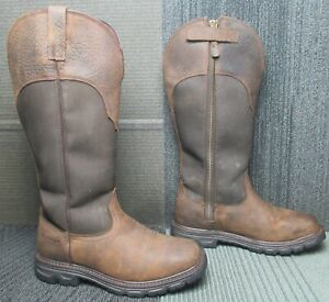 Mens ARIAT Conquest Snakeboot Waterproof Square Toe Hunting Boots 9 EE