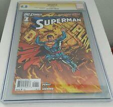 CGC 9.8 2011 Superman New 52 #1 SS George Perez