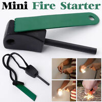 Survival Magnesium Flint Stone Fire Starter Emergency Lighter Kit For Camping OU