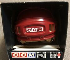 New Old Stock Red Vintage Retro CCM B HT2 L 6 7/8- 7 1/4 Hockey Helmet