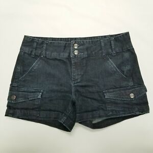 Calvin Klein Size 30/10 Dark Blue Faux Pockets Mid-Rise Women's Jean Shorts