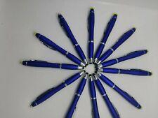 "12 pack LED Flashlight Ink Pen Pens Lot With Stylus cobalt Blue 6.5"""