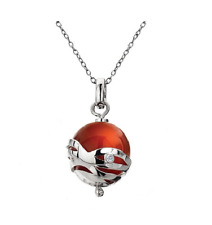 Hot Diamonds Arabesque Sterling Silver Red Agate Orb w/Diamond and Chain - DP303