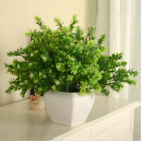 Artificial Plants Indoor Outdoor Fake Flower Leaf Foliage Bush Home Decor