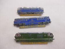3 x Enamel Rail Train Pin Badges BR Western Diesel, Hymek 25, KV Electric (A)
