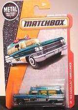 MATCHBOX 2016 '63 CADILLAC AMBULANCE EMT (BLUE)