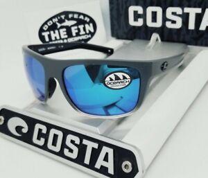 """580G COSTA DEL MAR gray/blue mirror BROADBILL """"OCEARCH"""" POLARIZED sunglasses NEW"""