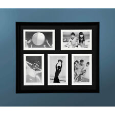 """Photo Picture Frame Black Plastic 5 Picture 4 x 6"""" Family Collage Image Poster"""