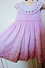 Girls Pink/Floral Sarah Louise Hand Smocked Party Dress Age 18 months/ 1.5 years
