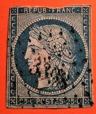 FRANCE-1850-Cérès N°4 oblitéré( TB-1052-1) Oblit Los.PC N° 3398 Sèvres