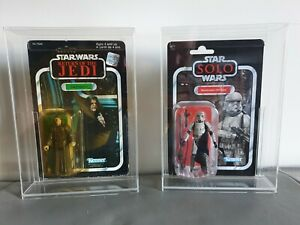 DEEP Acrylic Cases Carded MOC Vintage Star Wars & Vintage Collection, POTF2 +++