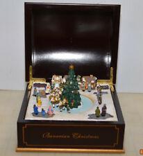 Mr. Christmas Bavarian Christmas Music Box Rounded Top Animated Tree Scene Rare