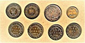 1844-1947-c Canada, Montreal, Nova Scotia coins w/ 1947-c Newfoundland sm cent
