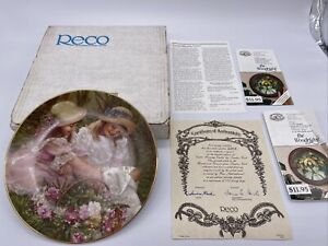 """RECO """"EASTER MORNING VISITOR"""" By Sandra Kuck Collectors Plate W/ COA"""