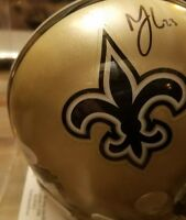 MARSHON LATTIMORE AUTOGRAPHED SIGNED NEW ORLEANS SAINTS SPEED MINI HELMET JSA