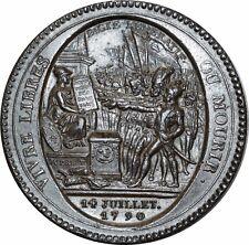 O518 RARE ! Constitution 1791-1792 Monneron de 5 sols 1792 AN IV Departemens
