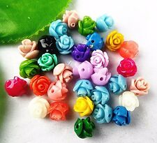 30PCS Beautiful mixed colors Giant clam carved flower Pendant 8x8mm BA4394