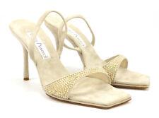 Santini Mavardi Women's Suede Slingback Pumps Shoes Size 38, 8 US Kimberly Tan