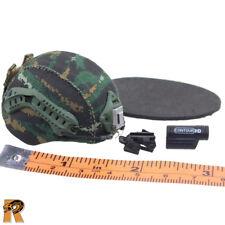 Snow Leopard Commando - FAST Helmet Set - 1/6 Scale - Flagset Action Figures