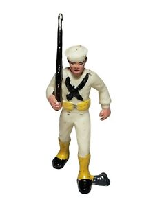 Vintage Marx Toys Navy Sailor US Soldier Plastic Figure