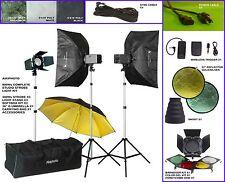 220V Pro NEW Quality 900Ws (300Ws X 3) Total Studio Strobe Mono Lighting Kit