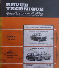 Revue technique AUSTIN MINI BRITISH LEYLAND tous types RTA 343 1975