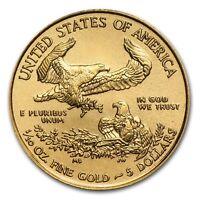 (LOT OF 10 FOR ONE BID) CH/GEM BU 2017 1/10TH OZ. $5 AMERICAN EAGLE GOLD COIN