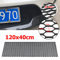 ABS Plastic Mesh Tuning Grill Car Bumper Hood Vent Grille Net Honeycomb Black AU