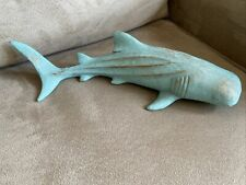 Whale Shark Fish Large Figurine Nautical Ocean Decor Teal Hanging Or Lay Flat