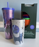 Starbucks Halloween Cat 2020 Cold Cup Tumbler Ceramic Mug Reusable Glow Cups LOT