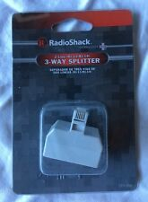 2 Line RJ-11 RJ-14 Telephone 3-Way Splitter Radioshack 279-006
