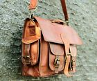 Women Real Vintage Leather Satchel Messenger Purse Shoulder Laptop Bag Briefcase