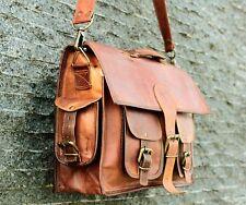 Women Real Vintage Leather Satchel Messenger Purse Shoulder Laptop Bag Briefcase