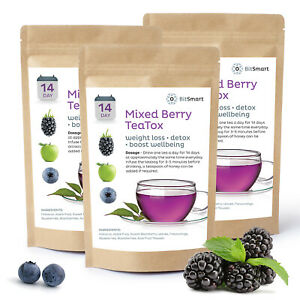 14 Day Teatox Weight Loss Tea Slimming Diet Detox Teabags Mixed Berry Burn Fat