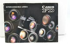 Canon Camera FD Interchangeable Lenses Booklet Manual 1979 English GC (404)