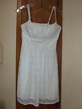 B. SMART White Lace Lined Party Dress With Adjustable Spaghetti Straps - Size **