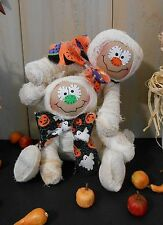 PATTERN Primitive Raggedy Halloween Mummy Cloth Doll Holiday Easy Folk Art #100