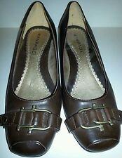 Women's 9 1/2 RAMPAGE Brown Wedge Heels