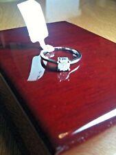 9ct Gold 50 pt 1/2 ct Diamond set 2.4 gram Solitaire Ring Size O, UK.