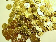100 coins Gold tone Krugerrand coin Uncirculated 44 grams 8-22k bar scrap plated