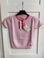 Beautiful Silk Cashmere Top with ruffles size 8-9Y | Rrp $189