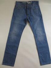Herren Jeans EDC by ESPRIT DRAGON FIT Button FLY 29 L32 denim blue used / IR98