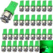 30Pcs  Light Green T10 5050 5-SMD LED bulbs Car Truck Interior/Side Marker Light