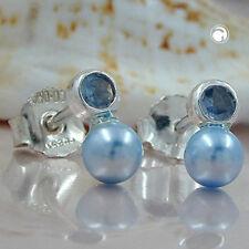 Stecker Synth. Aqua perle Imitat 925