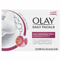 Olay Daily Facial Hydrating Cleansing Cloths w/ Grapeseed Extract 33ct, 2 Pack