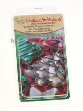 Städter 8er Set Ausstecher Ausstechform Mini Weihnachten Weißblech 3,5 - 7 cm