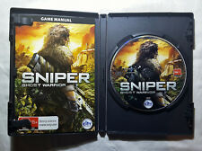 Vintage 2010 Sniper Ghost Warrior PC DVD video shooting game Windows XP Vista
