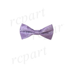New KID BOY'S Polyester paisley Pre-tied Bow tie Lavender formal wedding